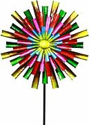 Unique Wind Mill Spinner Kinetic Outdoor Lawn Garden Decor Patio Stake Yard Art