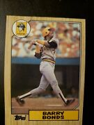 1987 Topps Barry Bonds Pittsburgh Pirates 320 Rookie Card Withandnbspthree Errors
