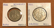 Seychelles- Set Of 61948-1982- 2,25 Cents 1, 5 Rupees Collectible Coins-km6,11