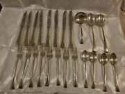 Fine Arts Sterling Silver Tranquility 5 Pc Flatware Set For 4 + Srv Spoons 23pcs