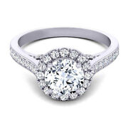 Brilliant 0.90 Ct Real Diamond Engagement Rings Solid 950 Platinum Size 6 7 8 9