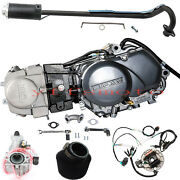 Kick Start Lifan 125cc Engine Motor + Exhaust+ Wire+cary F Crf50 Ct110 Z50 Crf70