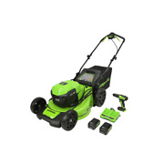 20 In. 48-volt Battery Cordless Self-propelled Walk Behind Lawn Mower With 2 5