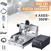 4 Axis Cnc Router Cutting Engraving Carving Machine W Usb Port For Wood And More