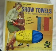 Vintage Stamped Embroidery Kit Towels Child Sewing Fun And Learn A Davis Original