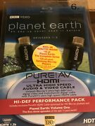 Belkin F5z0096 Pureav 6ft Hdmi Cable With Planet Earth Vol. 1 Blu-ray Disk Rare