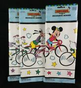 Disney Mickey And Friends At Home Decorative Wallpaper Border Lot Of 3 New