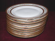 U.c. Limoges Cowell And Hubbard Cleveland 10 - 6 Gold Encrusted Bread Plates Bin