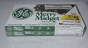 1988 General Electric Merry Midget Clear Christmas Lights 2 Boxes Of 50 Sealed