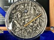 Niue 2019 The Witcher The Last Wish 2 Oz 5 Antique Finish Silver Coin