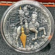 Niue 2019 Ancient Chinese Warrior Zhao Yun 2 Oz High Relief Silver Coin.