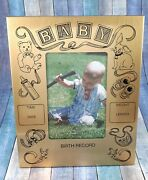 Anson Goldtone Baby Birth Record Picture Frame. 6x7. Made In The Usa