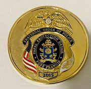 Unique-2015 Fraternal Order Of Police-pope Francis Detail-police Challenge Coin