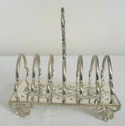 Elkington And Co. Silver Plated Office Letter Holder Toaster Rack With Handle