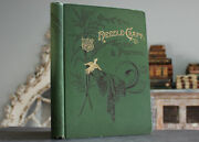 Rare Antique Old Book Needle Craft 1890 Illustrated Embroidery Designs Scarce