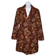 Cabi Sz 14 Jacobean Brocade Tapestry Jacquard Embroidered Floral Coat Jacket