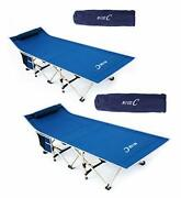 Nice C Folding Camping Cot Sleeping Bed Tent Cot With Pillow Carry Bag And Stor...