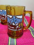 4 Vintage Glass Beer Mugs New Jersey Nj Army National Guard Free Shipping