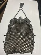 Antique Gorham Art Nouveau Ornate Sterling Silver Purse Frame With Chatelaine