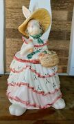 Fitz And Floyd Ff 1989 Scarlet Oand039hare Cookie Jar Bunny Easter Rabbit Retired