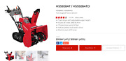 Honda Hss928atd 28 270cc Two-stage Drive Snow Blower - 17.9 Use Hours Mint