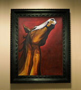 Siqueiros Painting On Canvas - Horse Painting - Mexican Art - David Alfaro