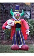 Halloween Scary Decor Yard Display 7 Foot Free Candy Inflatable Clown A M26