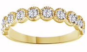 1/2ct Round Simulated Diamond 18k Yellow Gold Over Antique Enagement Band Ring