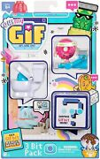 Oh My Gif 3 Bit Pack Working Out Doughby Pink Donut Surprise Gifbit New