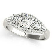 1.50 Ct Real Diamond Wedding Ring For Women Solid 950 Platinum Rings Size 7 8 9