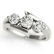 0.80 Ct Real Diamond Wedding Ring For Women Solid 950 Platinum Rings Size 5 6 7