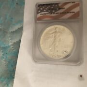 1986 American Silver Eagle Ms69. The Date Is In Roman Numerals