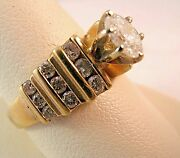 1.10ct Oval Diamond I S1 10k Gold Engagement Ring Size 8.25 5.4gr
