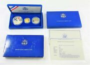 1986 U.s. Liberty 3-coin Proof Set 5 Gold Silver 1 And Half Dollar