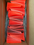 1000 Fluorescent Red Shipping Tags 2 1/8 X 4 1/4 Wired