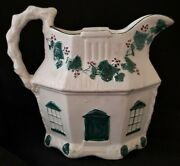 Cottage Milk Pitcher, Neoclassical Earthenware, Pearlware, C1820, Large- 7.5