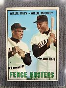 1967 Topps Fence Busters Willie Mays/willie Mccovey 423 Hof San Fran. Giants