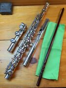 Wm S Haynes Vintage Solid Silver Flute-impeccably Restored-made In 1928-a=440++