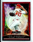 Mike Trout 2020 Panini Chronicles Titan Red Wave Refractor 9 D 104/199 Angels