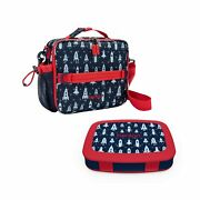 Bentgo Prints Insulated Lunch Bag Set With Kids Bento-style Lunch Box Space ...