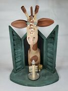 Giraffe Night Light Lamp Folk Art By Barry Grosscup Millwood Toy Co Signed Dated