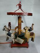 Motorized Carousel Ted And Barb Alfred 10 Of 10 Signed/numbered/dated Rare