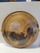 Vintage Tom Krueger Hand Crafted Clay Wall Art - Abstract Clay Wall Hanging