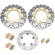 Front Rear Brake Rotors Pads For Yamaha Yzf R6 03 04 Yzf R6s 03 04 05 06 07 08