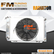 Mustang Radiator With Fan Shroud For Ford 80-93 Aluminum 3row 138