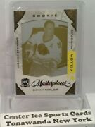 2008-09 The Cup Masterpieces Danny Taylor 1/1 Rc Rookie W/ Bobby Hull Plate Read
