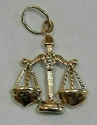 14k Yellow Gold Scales Of Justice Attorney Lawyer Pendant Or Charm With Diamond