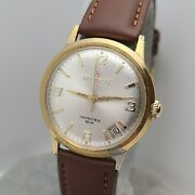 Vintage Helbros Menand039s Manual Winding Watch Fhf St 96-4 Date 17jewels Swiss 1970