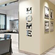 Home Sign Letters Family Farmhouse Wall Decoration Mirror Wall Stickers Set Of 4
