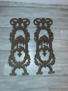 Antique Cast Iron Architectural Garden Fence Panels Lamb Willow Tree